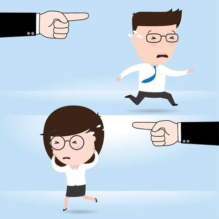 competitor: Two different businessmen in rush competing, business concept, vector 10