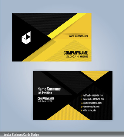 Yellow and black modern business card template illustration yellow and black modern business card template illustration vector 10 vector wajeb Images