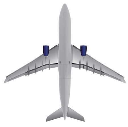Airplane bottom view, Illustration Vector