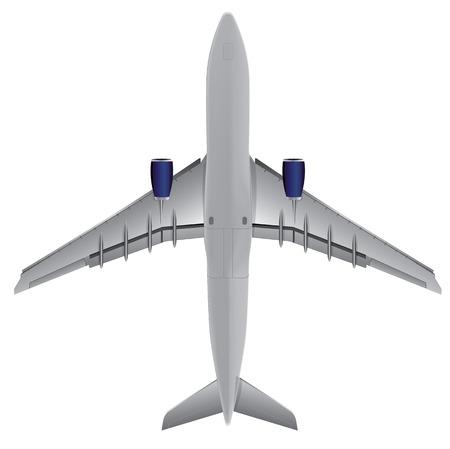 Airplane bottom view, Illustration Vector