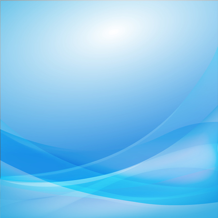 Blue curve abstract background vector