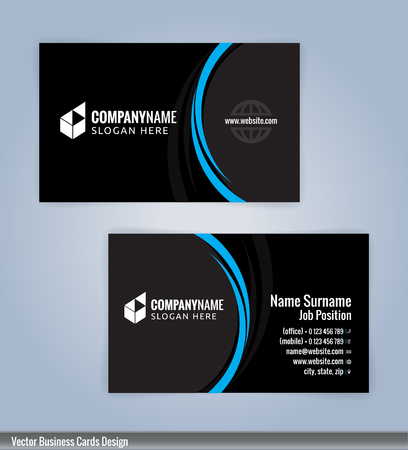 Blue and black modern business card template illustration vector blue and black modern business card template illustration vector 10 stock vector 76364859 accmission Choice Image
