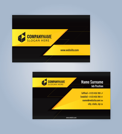 Yellow and black modern business card template illustration vector yellow and black modern business card template illustration vector 10 fbccfo Image collections
