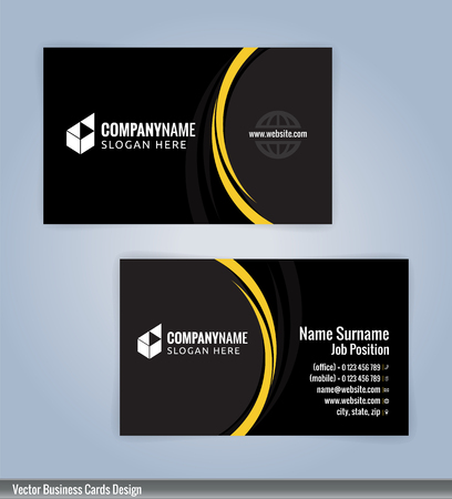 Yellow and black modern business card template illustration vector yellow and black modern business card template illustration vector 10 flashek Images