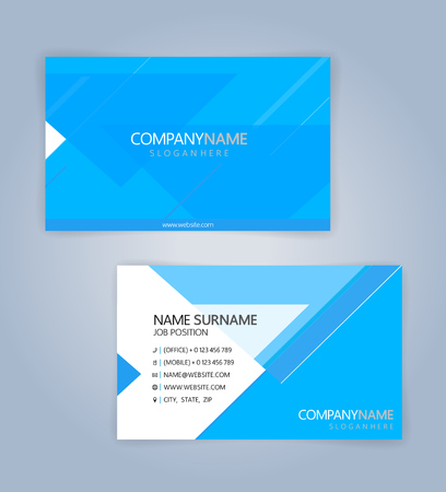 Blue and White modern business card template, Illustration Vector 10 Illustration