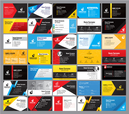35 Colorful Modern business card Design template
