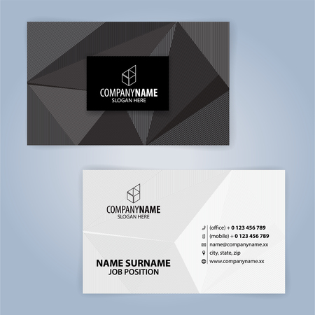 Black and White modern business card template, Illustration Vector 10 Illustration