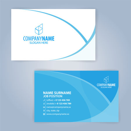 Blue and white modern business card template illustration vector blue and white modern business card template illustration vector 10 stock vector 79566715 cheaphphosting Image collections