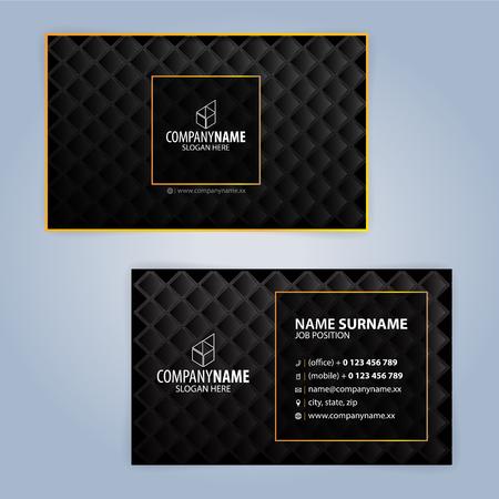 Visitenkarten-Design-Vorlagen, Luxus Grafik-Design Standard-Bild - 81295533