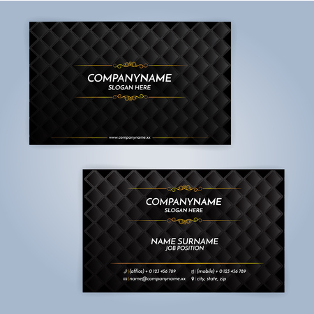Business card design templates, Luxury graphic design