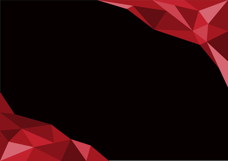 Black and Red geometric abstract background vector