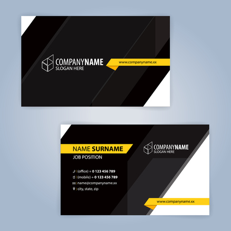 Yellow and Black modern business card template, Illustration Vector 10 Illustration