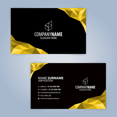 Yellow and black modern business card template illustration yellow and black modern business card template illustration royalty free cliparts vectors and stock illustration image 82740627 accmission Gallery