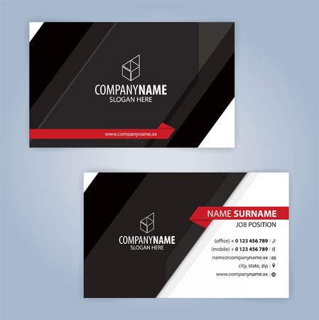 Red and black modern business card template illustration vector red and black modern business card template illustration vector 10 stock vector 82740641 fbccfo