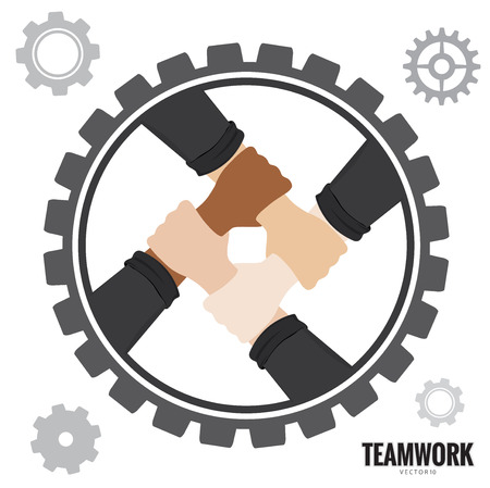 Hands Teamwork concept Vector illustration.