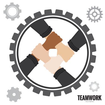Hands Teamwork concept Vector illustration.