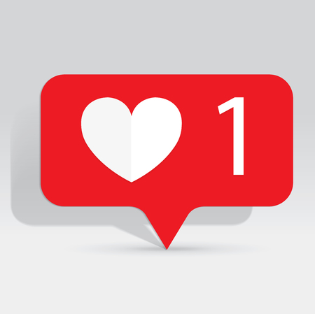 Like Icon, Counter Notification Icon, Heart Icon, Social Media, illustration, EPS 10 Ilustração