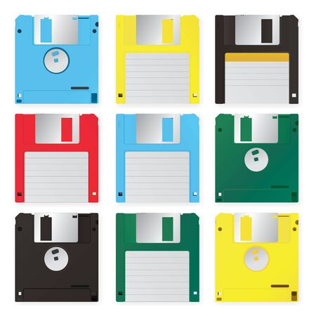 Floppy Disk Vector Illustration Foto de archivo - 145667837