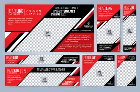 Red and Black business cards design, standard sizes, modern design