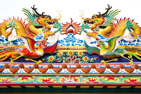 demon swan jade dragon on the shrine of a dead person Stock Photo - 9254777