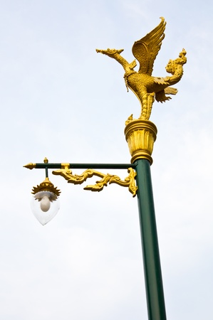 fire bird swan jade yellow lamppost Stock Photo - 9329997
