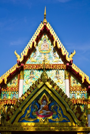 Buddhist church entrance Stock Photo - 9355137