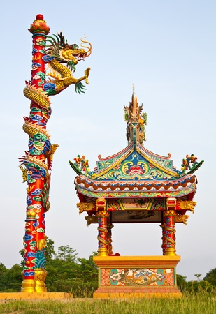 Dragon climb poles Stock Photo - 9354990