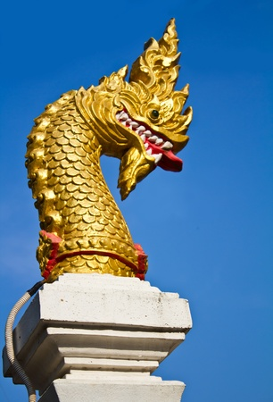 Golden Naga head