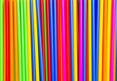 Long plastic tube, stick a variety of colors. photo