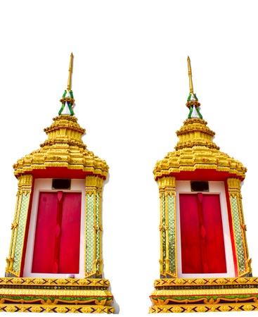 Church window Wat Huay Khen Bang Mun Nak district. Phichit Province. In Thailand Stock Photo - 9518940