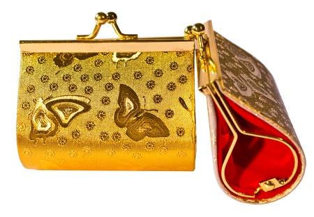 Beautiful purse pattern. Butterfly gold
