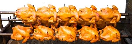 pollo rostizado: Rotación de pollo asado, pero no cocido