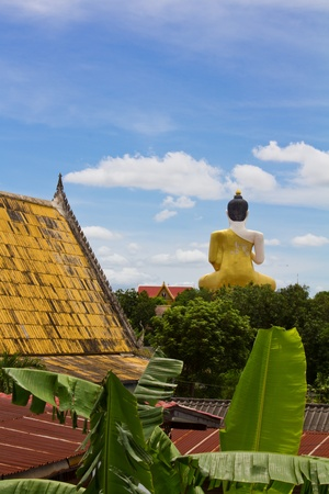 Behind of the large Buddha statue, Wat Khiri Wong, Nakhon Sawan, Thailand. Stock Photo - 10640882