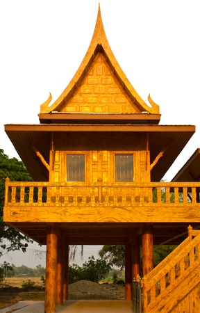 gold teakwood: House thai style is like [ model ] The tall. Editorial