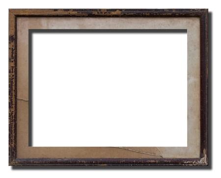 Ancien cadre photo en bois garder longtemps. Banque d'images - 11052535