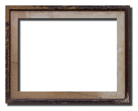 Old wooden picture frame keep it long time.
