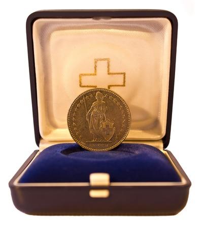 helvetia: Blue box coin helvetia.
