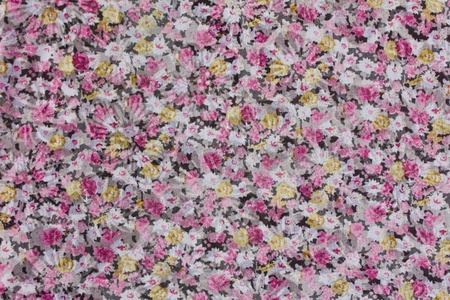 Pink flower pattern on the fabric of Thailand photo