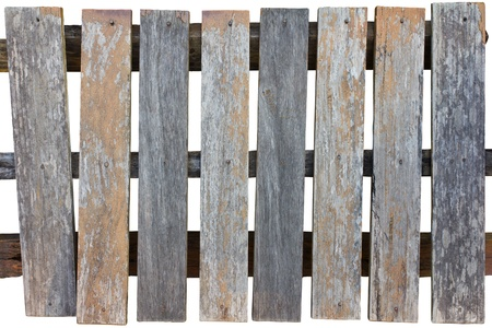 Old wooden fence rectangular decay over time  photo