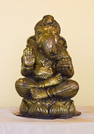 Ancient statues of Ganesha made of copper  photo