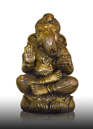 Ganesh statues made of bronze with gilding Generally in Thailand, any kind of art decorated in Buddhist church, temple pavilion, temple hall, monk house etc  creaced with money donated by people to hire artist  They are public domain or treasure of Buddhi photo