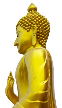 Isolates the upper side of the standing Buddha  Stock Photo - 16267829