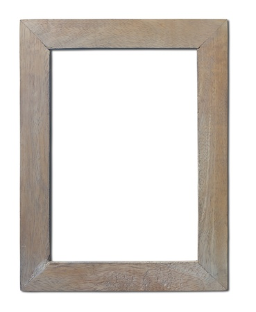 Isolated old wooden frame which is made   of hand crafts  Stock Photo - 16456431