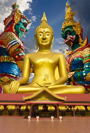 Large Buddha statue, which is a giant statue in the background  Stock Photo - 16552445