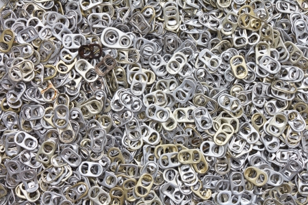 Background of many ring pull can opener, silver and gold Stock Photo - 17859414