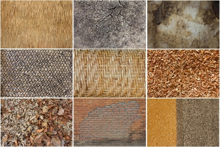 Set background image surface at different brick, wood, leather photo
