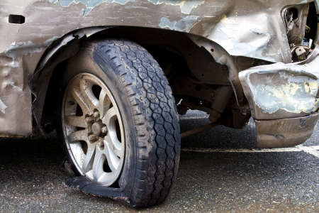 accidental: Damage caused by accidental wheel vehicles plying crash