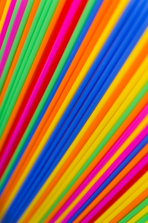 Close-up texture of many colorful tubes that the central focus and blur on the side  photo