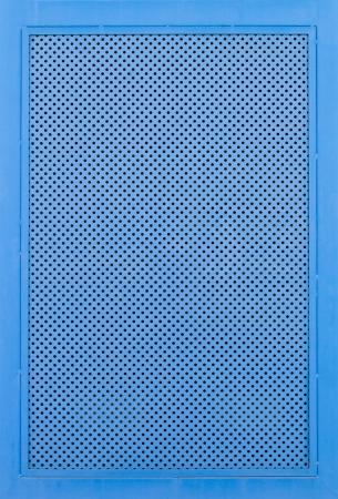 metal grate: Blue metal grate background