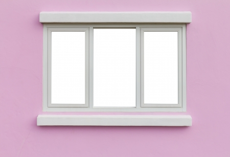 Background Window Frame In The Wall Pink White Backdrop Stock Photo ...